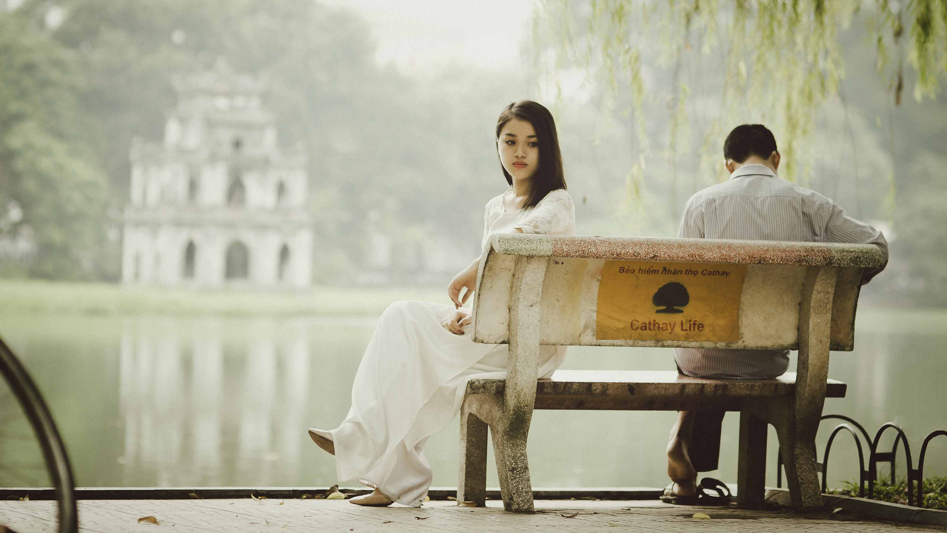 Silent Couple on Bench